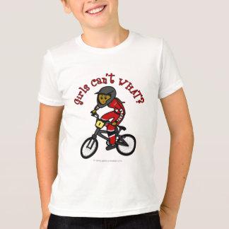 Dunkelrote Mädchen BMX T-Shirt