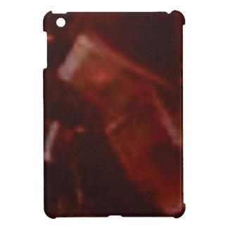 dunkelroter Schnitt des Steins Hülle Für iPad Mini