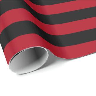 Dunkelroter/schwarzer Streifen Geschenkpapier