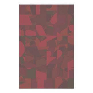 Dunkelrotes abstraktes Muster Personalisierte Büropapiere