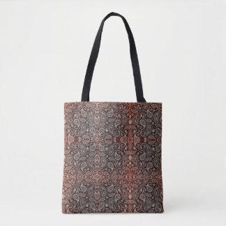 Dunkelrotes Paisley Tasche