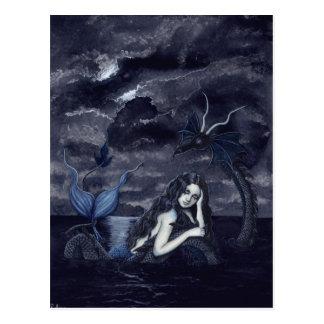 Dunkelste Nachtpostkarte Postkarte