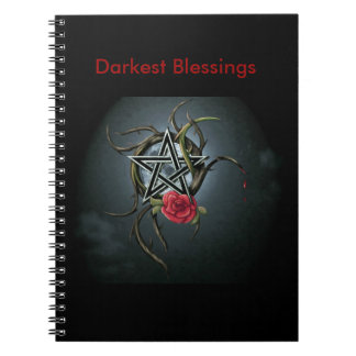 Dunkelstes Blesssings: Schreibens-Zeitschrift Notizblock