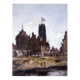 Dunkerque, Festival-Tag durch Eugene Boudin Postkarte