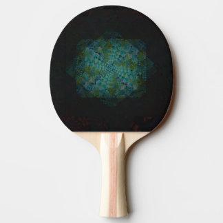 Dunkle abstrakte Fraktal-Digital-Kunst Tischtennis Schläger