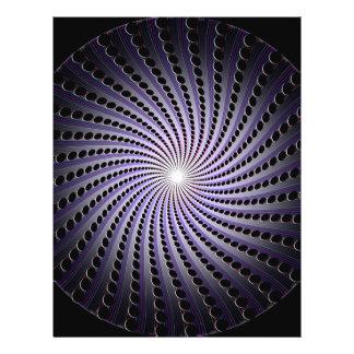 Dunkle abstrakte Spirale: Flyer Druck