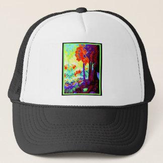 Dunkle Amaryllis-Kunst-Geschenke durch Sharles Truckerkappe