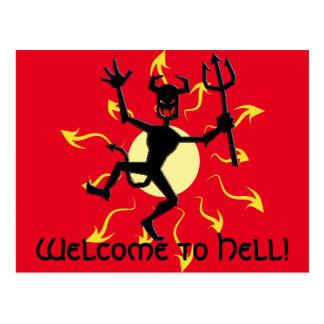 Dunkle Anzeichen Magickal Feuer-Teufel-Produkte Postkarte