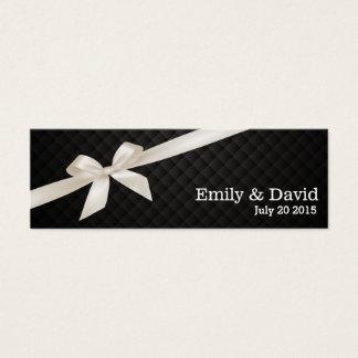 Dunkle Band-Hochzeits-Website-Einsatz-Luxuskarte Mini Visitenkarte