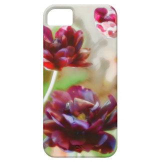 Dunkle Bordeaux-Pfingstrosen-blühendes Tulpe-Trio Schutzhülle Fürs iPhone 5