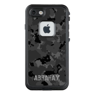 Dunkle Camouflage-Namen-Schablone LifeProof FRÄ' iPhone 8/7 Hülle
