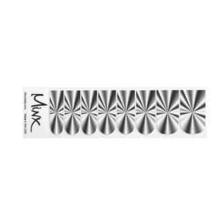 Dunkle Chrom-Sternexplosionmetallischer Minx Minx Nagelkunst