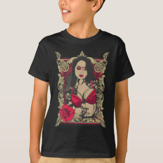 Dunkle Dame Rose T-Shirt