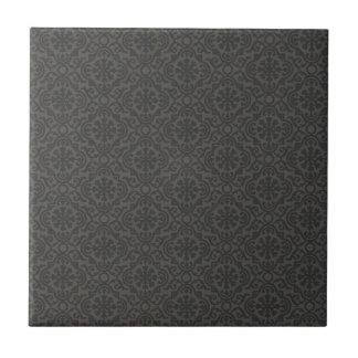Dunkle dekorative Fliese des abstrakten Musters