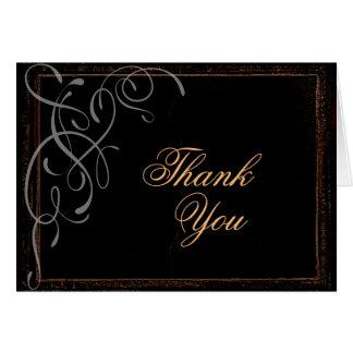 Dunkle Eleganz - danke zu kardieren Karte