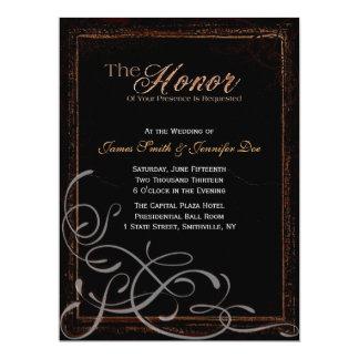 Dunkle Eleganz-Einladung Karte