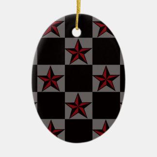 Dunkle Goth Sternchen-Vereinbarung Ovales Keramik Ornament