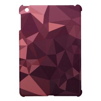 Dunkle Himbeerroter abstrakter niedriger iPad Mini Hülle