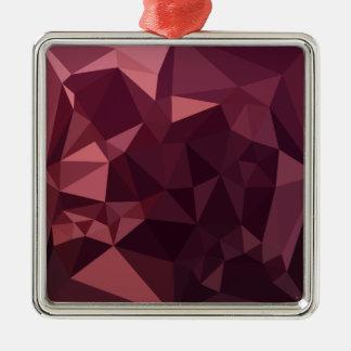 Dunkle Himbeerroter abstrakter niedriger Silbernes Ornament