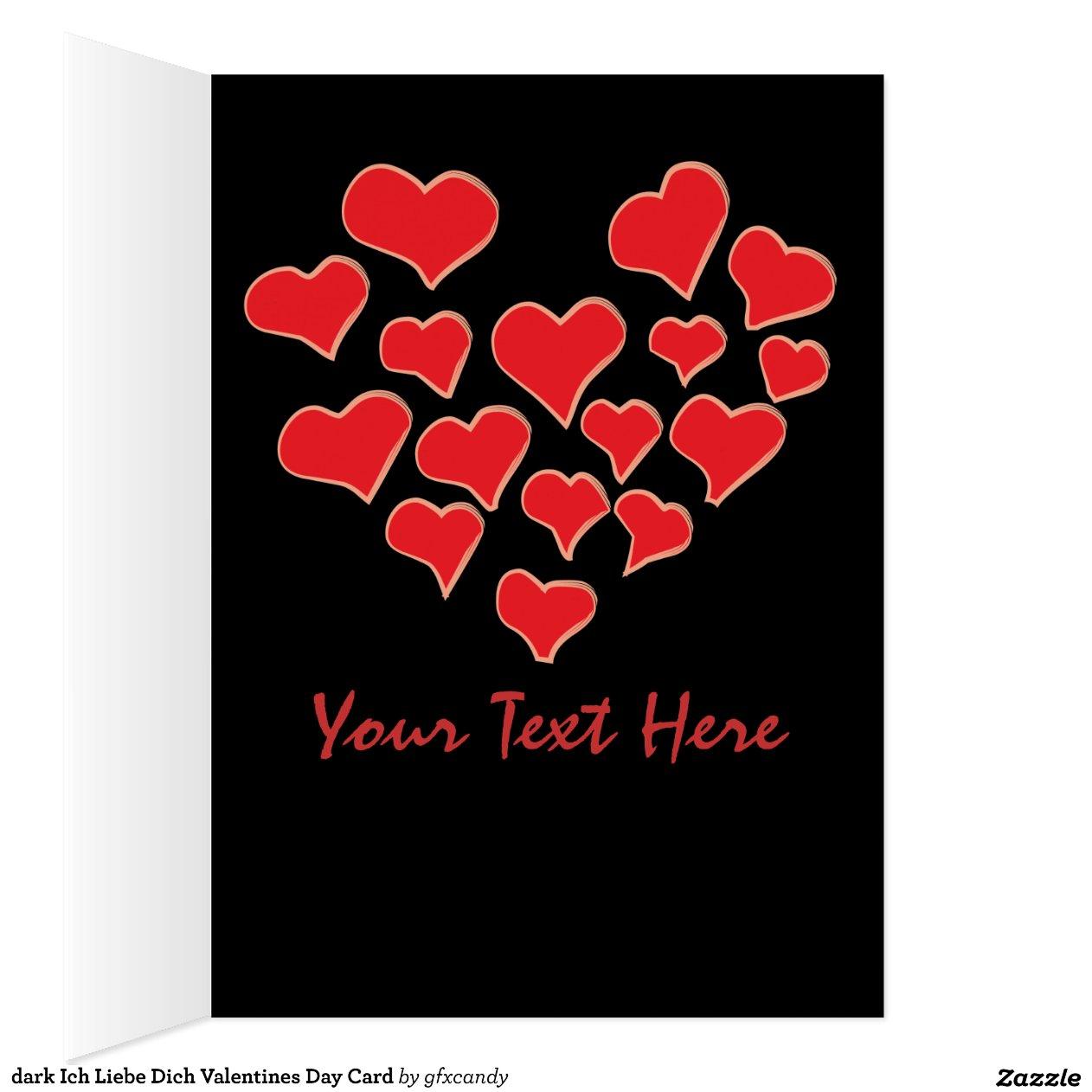 dunkle ich liebe dich valentinstag karte mitteilungskarte zazzle. Black Bedroom Furniture Sets. Home Design Ideas