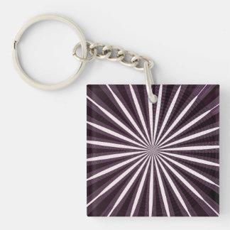 Dunkle künstlerische Wellen-Muster-glückliche Schlüsselanhänger