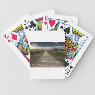 Dunkle Land-Straße Bicycle Spielkarten