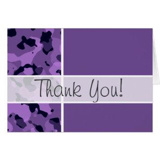 Dunkle Lavendel-Camouflage; Personalisiert Karte