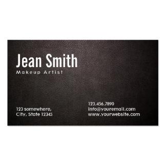 Dunkle lederne Make-upkünstler-Visitenkarte Visitenkarten