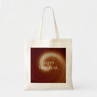 Dunkle Licht-Spiralen-Kunst Browns gelockte Tragetasche
