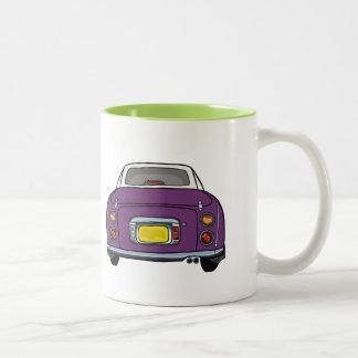 Dunkle lila Nissan Figaro kundenspezifische Auto Zweifarbige Tasse