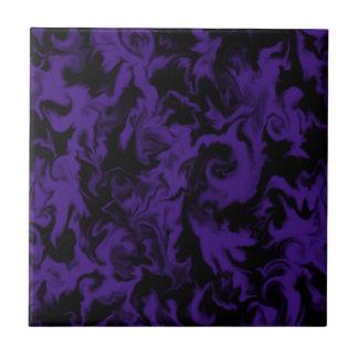 Dunkle lila u. schwarze Mischfarbfliese Keramikfliese