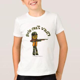 Dunkle Mädchen-Jagd T-Shirt