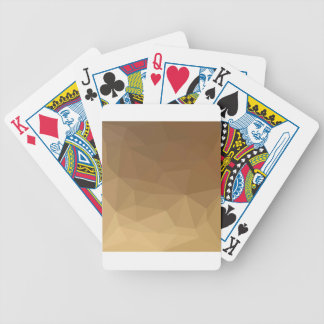Dunkle Mandarine-abstrakter niedriger Bicycle Spielkarten