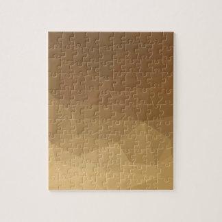 Dunkle Mandarine-abstrakter niedriger Puzzle