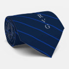 Dunkle Marine Stripes die kundenspezifischen Krawatte