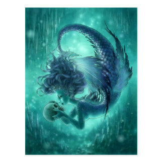 Dunkle Meerjungfrau-Postkarte - Geheimnis-Küsse Postkarte