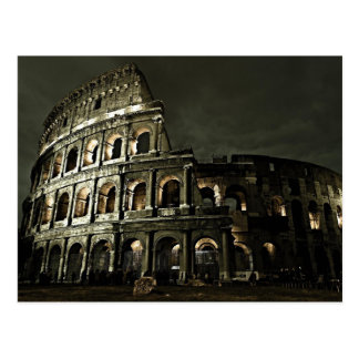 Dunkle Nacht an Colosseum Postkarte