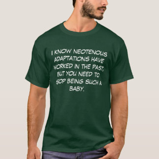 Dunkle Neotenous Anpassungen T-Shirt