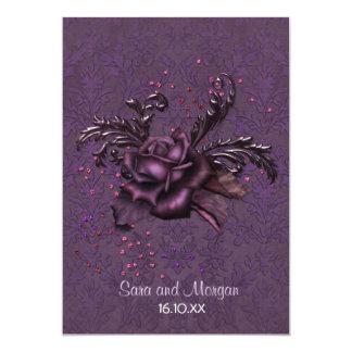 Dunkle Romance Hochzeits-Einladung Karte