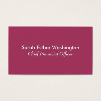 Dunkle rosa Farbe Visitenkarte
