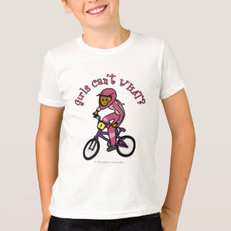 Dunkle rosa Mädchen BMX T-Shirt