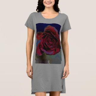 Dunkle Rose Kleid