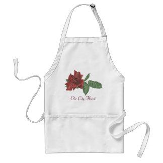Dunkle Rosen-Floristen-Schürze
