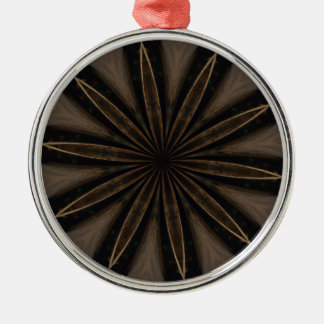 Dunkle rustikale kaleidoskopische Blumen-Kunst Silbernes Ornament