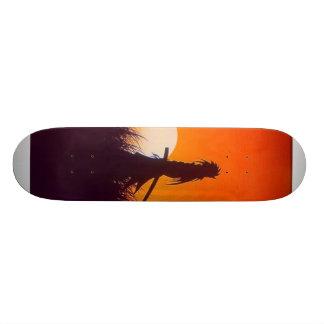 dunkle Samurais Skateboarddeck