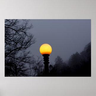 Dunkle Schatten-Nebel-gotisches Poster