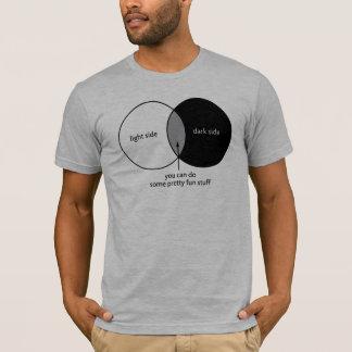 Dunkle Seite Venn Diagramm T-Shirt
