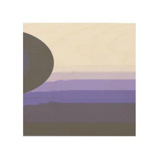 dunkle Sonne Holzdruck