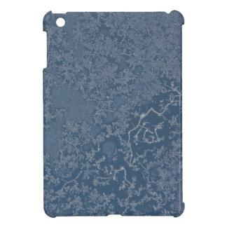 Dunkle Stahlblau-eisige Kristalle iPad Mini Hülle