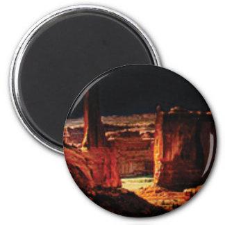 dunkle Steinschatten in Utah Runder Magnet 5,7 Cm